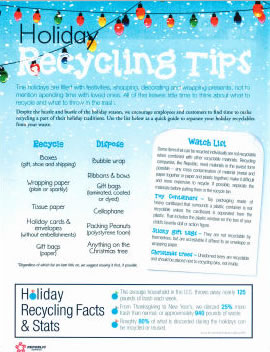 Holiday Recycling Guidelines